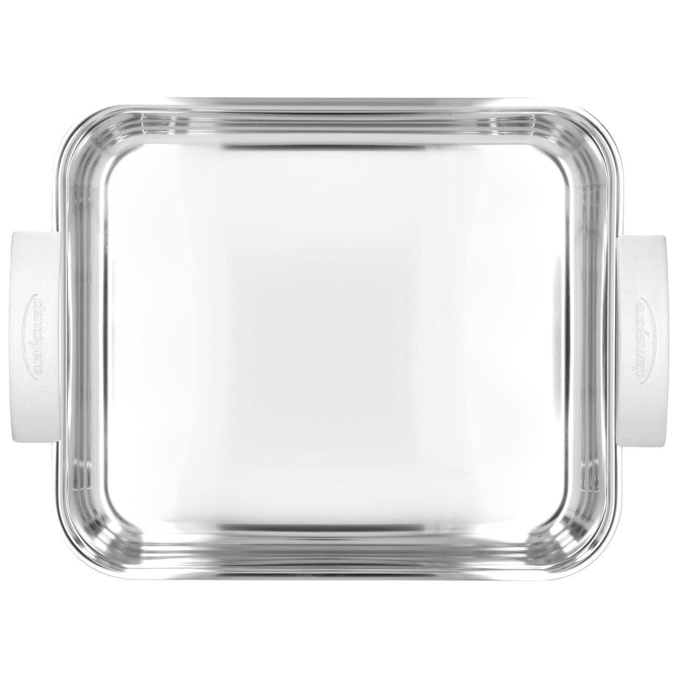 Rister + gitter 40 cm, 18/10 rustfrit stål, Sølv,,large 3