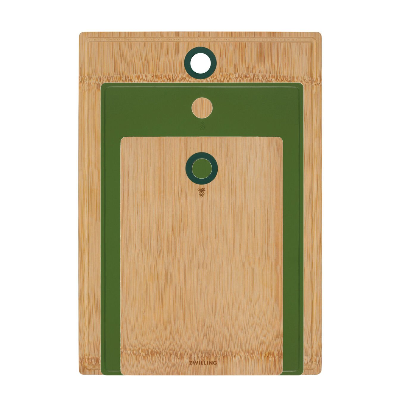 Cutting board set, 3 Piece | bamboo | lime-green,,large 2