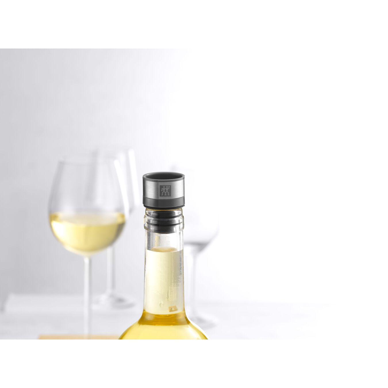 Vakuum Weinverschluss Set, 2-tlg, Grau,,large 8