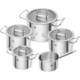 ZWILLING Pro, 9 PIECE COOKWARE SET, 5 Piece | round | 18/10 Stainless Steel
