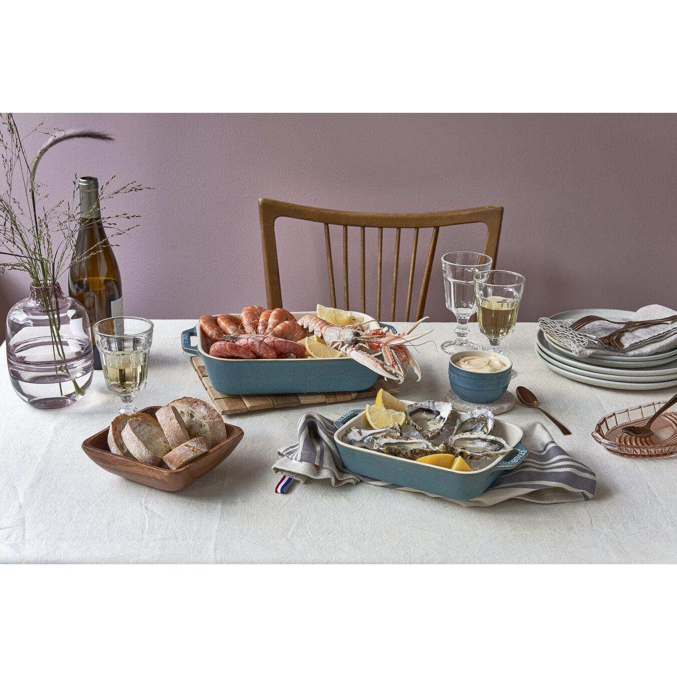 10.5-inch x 7.5-inch Rectangular Baking Dish - Rustic Turquoise,,large 4