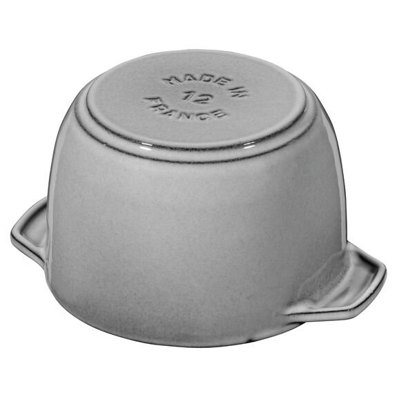 4.72-inch round Cast iron Rice Cocotte, Graphite Grey - Visual Imperfections,,large 5