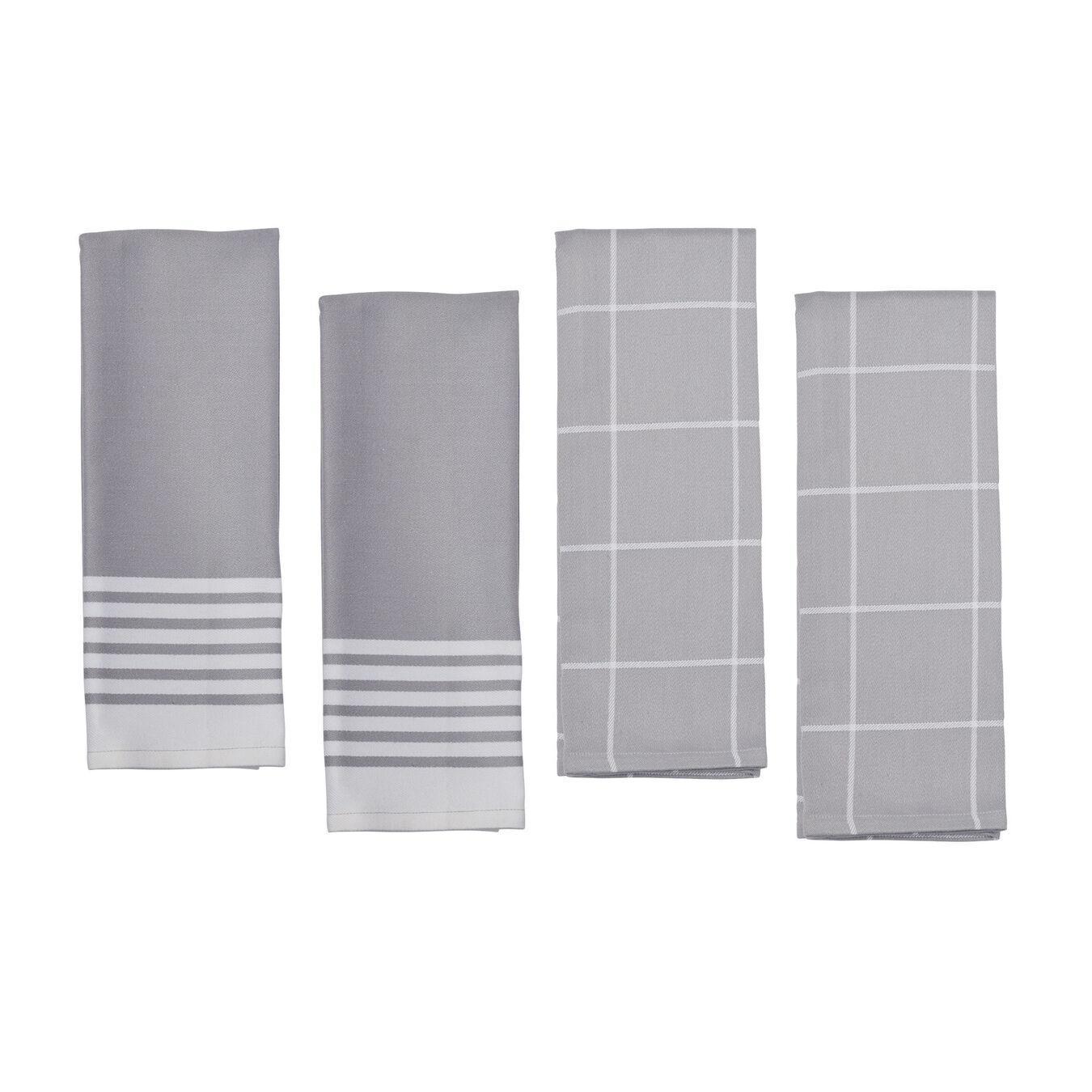 4-pc Kitchen Towel Set - Grey,,large 1
