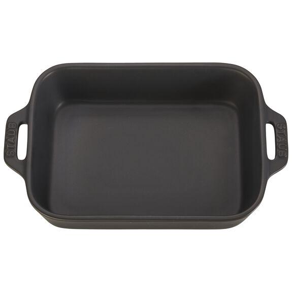 7.5-inch x 6-inch Rectangular Baking Dish - Matte Black,,large