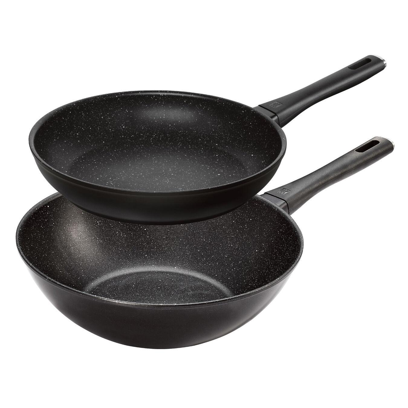 2-pcs Aluminum Set de casseroles et de poêles,,large 1