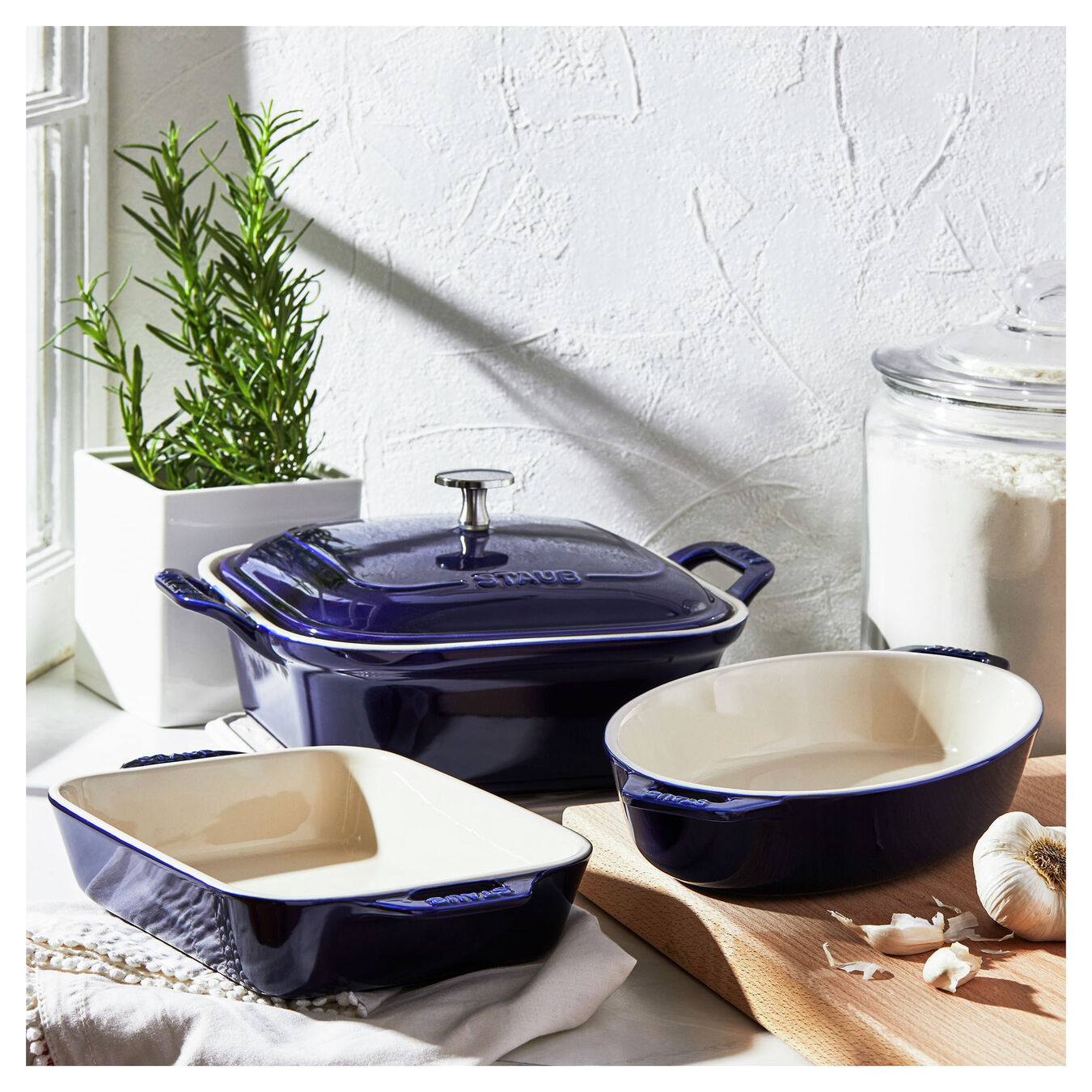 Ovenware set, 4 Piece | dark-blue,,large 6