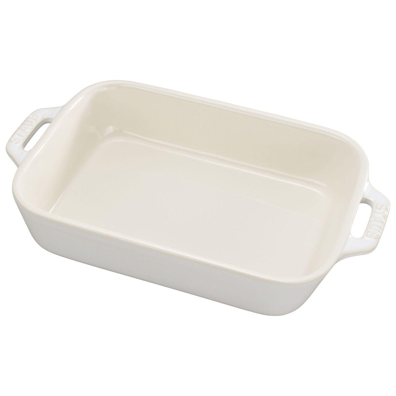 6.3 x 8-inch, rectangular, Oven dish, ivory-white,,large 1
