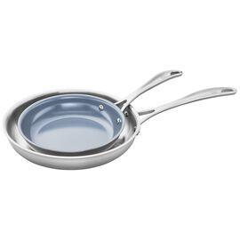 ZWILLING Spirit Ceramic Nonstick, 3-ply 2-pc Stainless Steel Ceramic Nonstick Fry Pan Set