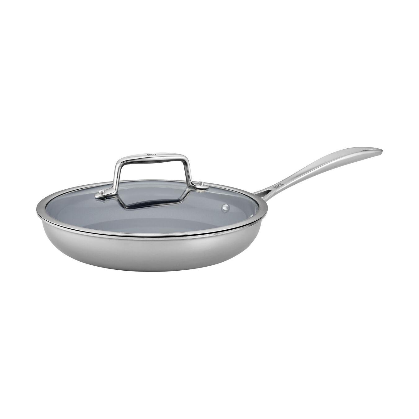 2-pc, 18/10 Stainless Steel, Ceramic, Non-stick, Frying pan set,,large 1