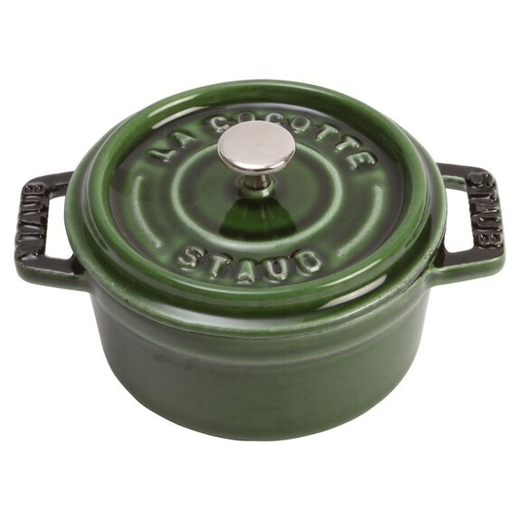 4-inch round Mini Cocotte, Basil,,large