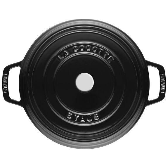 5.5-qt round Cocotte, Shiny black,,large 5