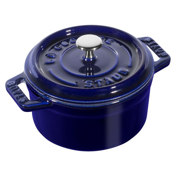 0.25-qt Mini Round Cocotte - Dark Blue,,large 3