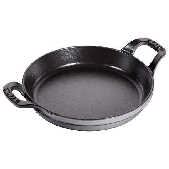7.5-inch Round Gratin Baking Dish - Graphite Grey,,large