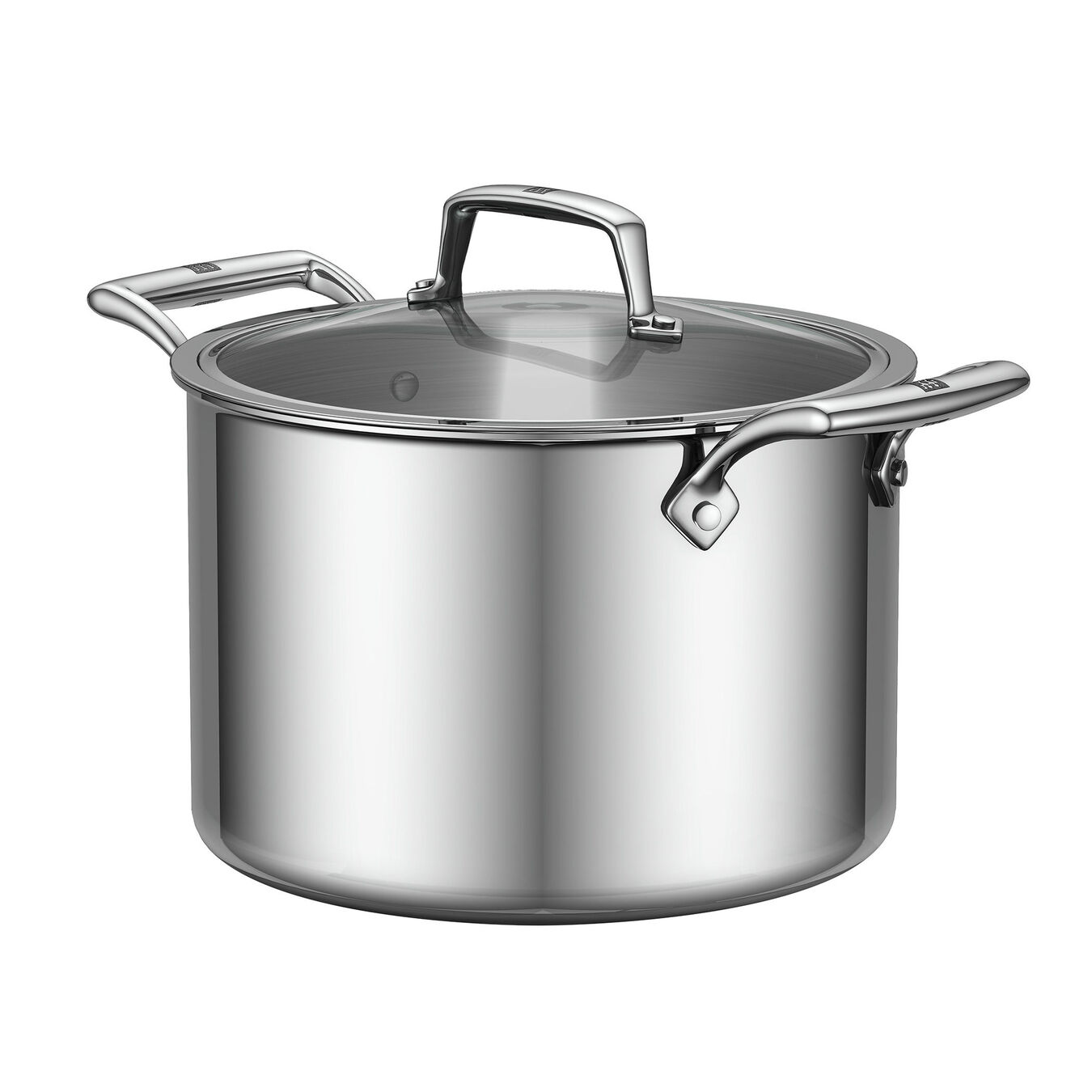 8-qt Stainless Steel Stock Pot w/Lid,,large 1