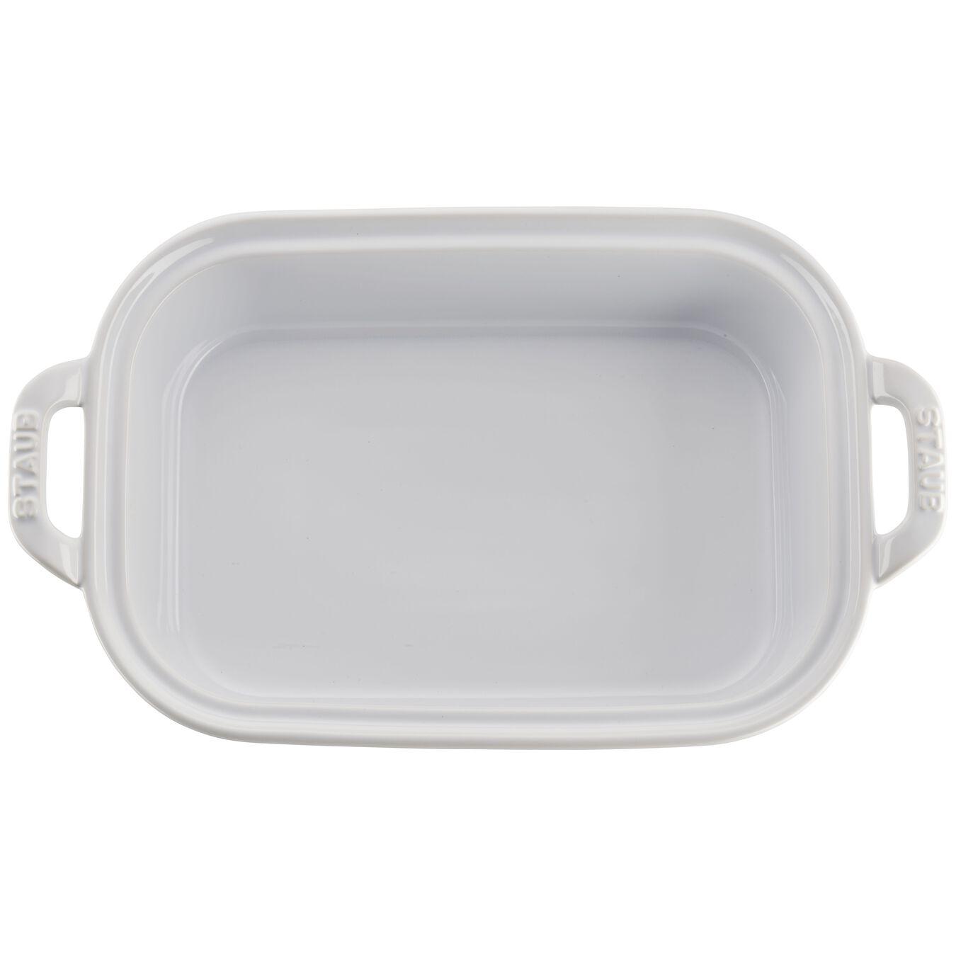 12-inch x 8-inch Rectangular Covered Baking Dish - White,,large 3