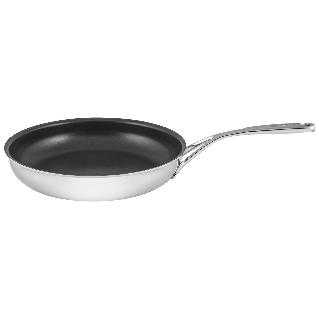 Poêle 28 cm, Inox 18/10, Silver-Black,,large 1