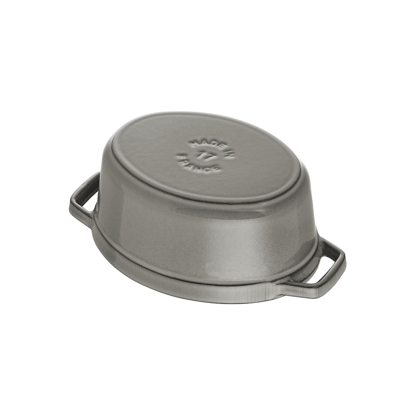 Cocotte 17 cm, oval, Graphit-Grau, Gusseisen,,large 5