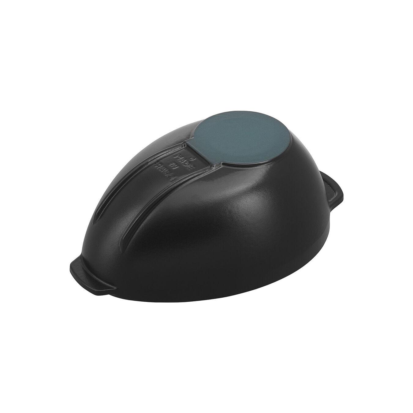 2 l Cast iron oval Mussel pot, Black,,large 4