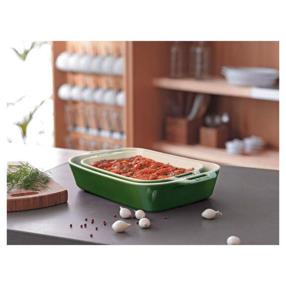 2-pc Rectangular Baking Dish Set - Basil,,large 2