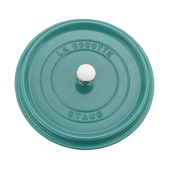 5.5-qt Round Cocotte - Turquoise,,large 4