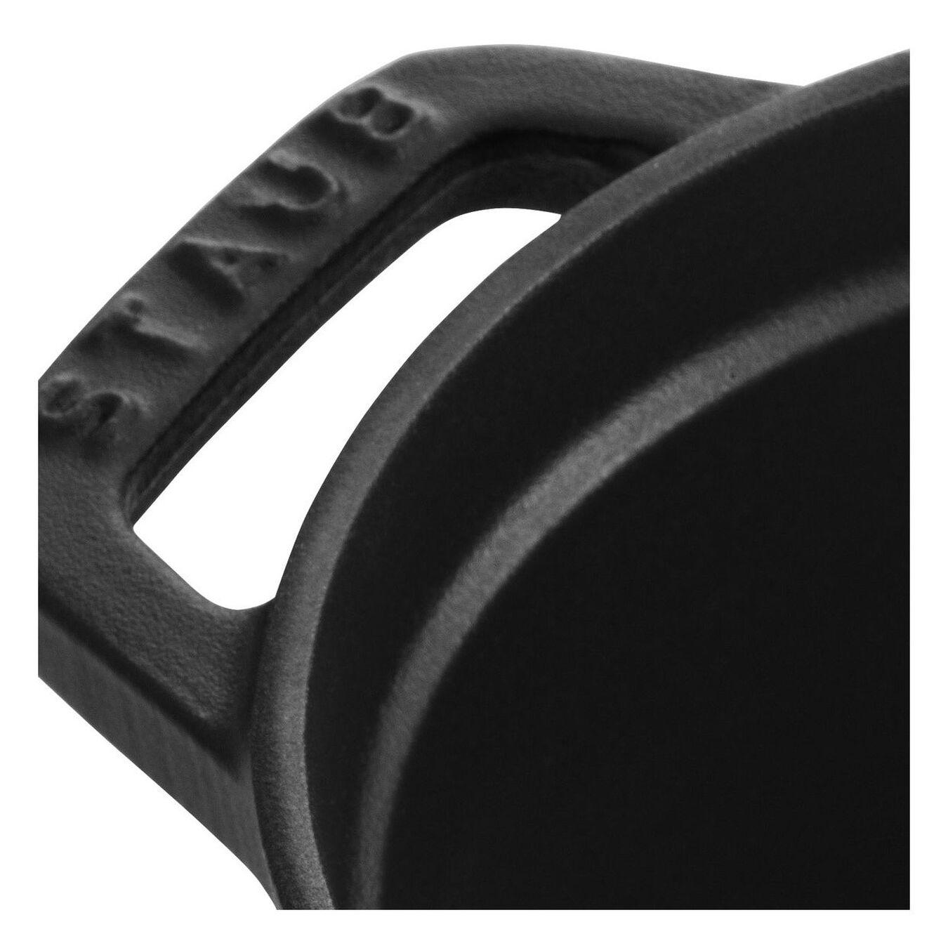 Cocotte 17 cm, Ovale, Noir, Fonte,,large 4