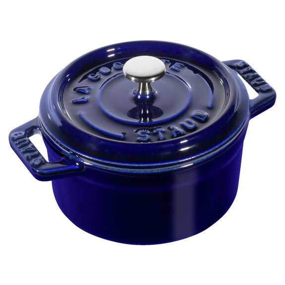 4-inch round Mini Cocotte, Dark Blue,,large 3