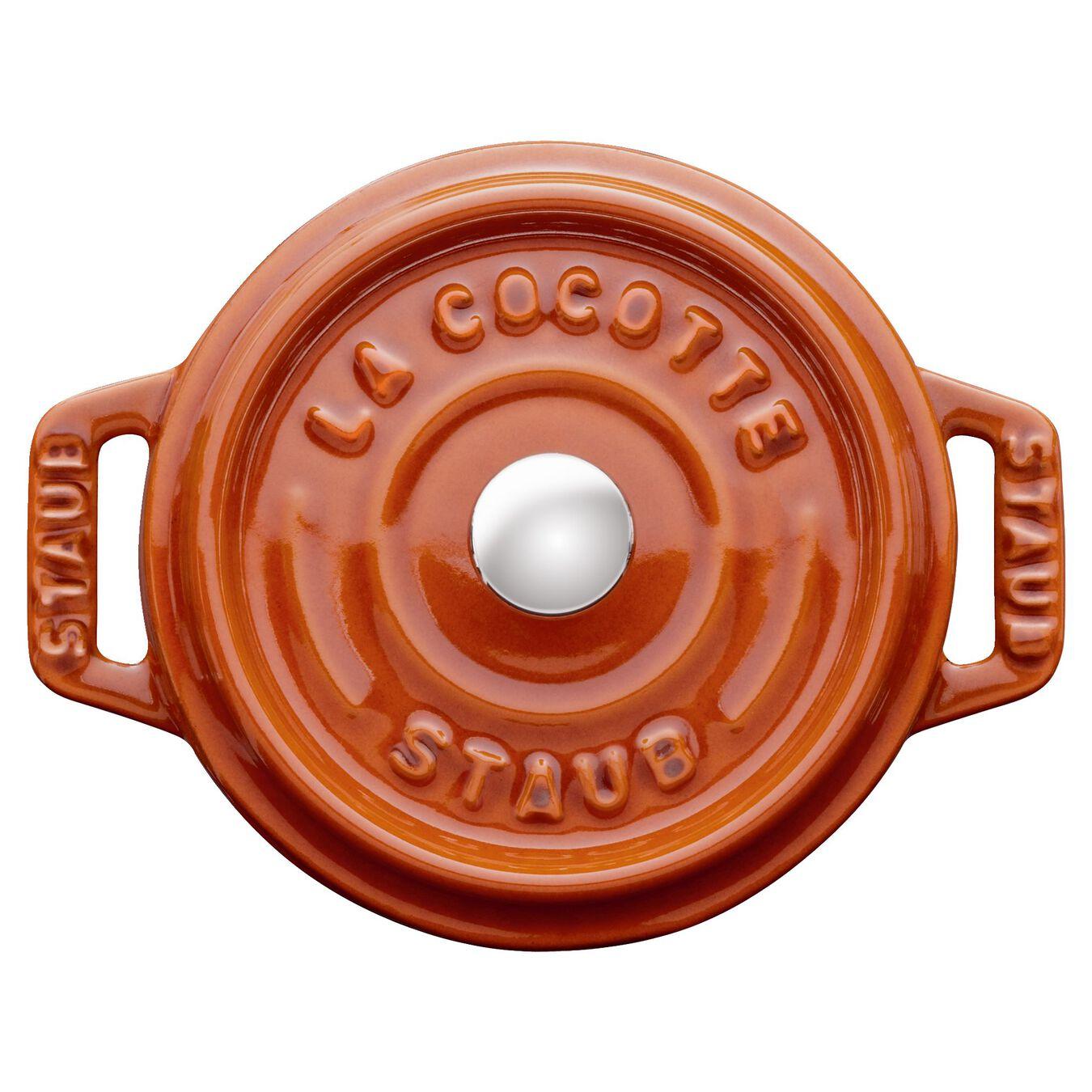 Mini Cocotte 10 cm, Rond(e), Cannelle, Fonte,,large 2