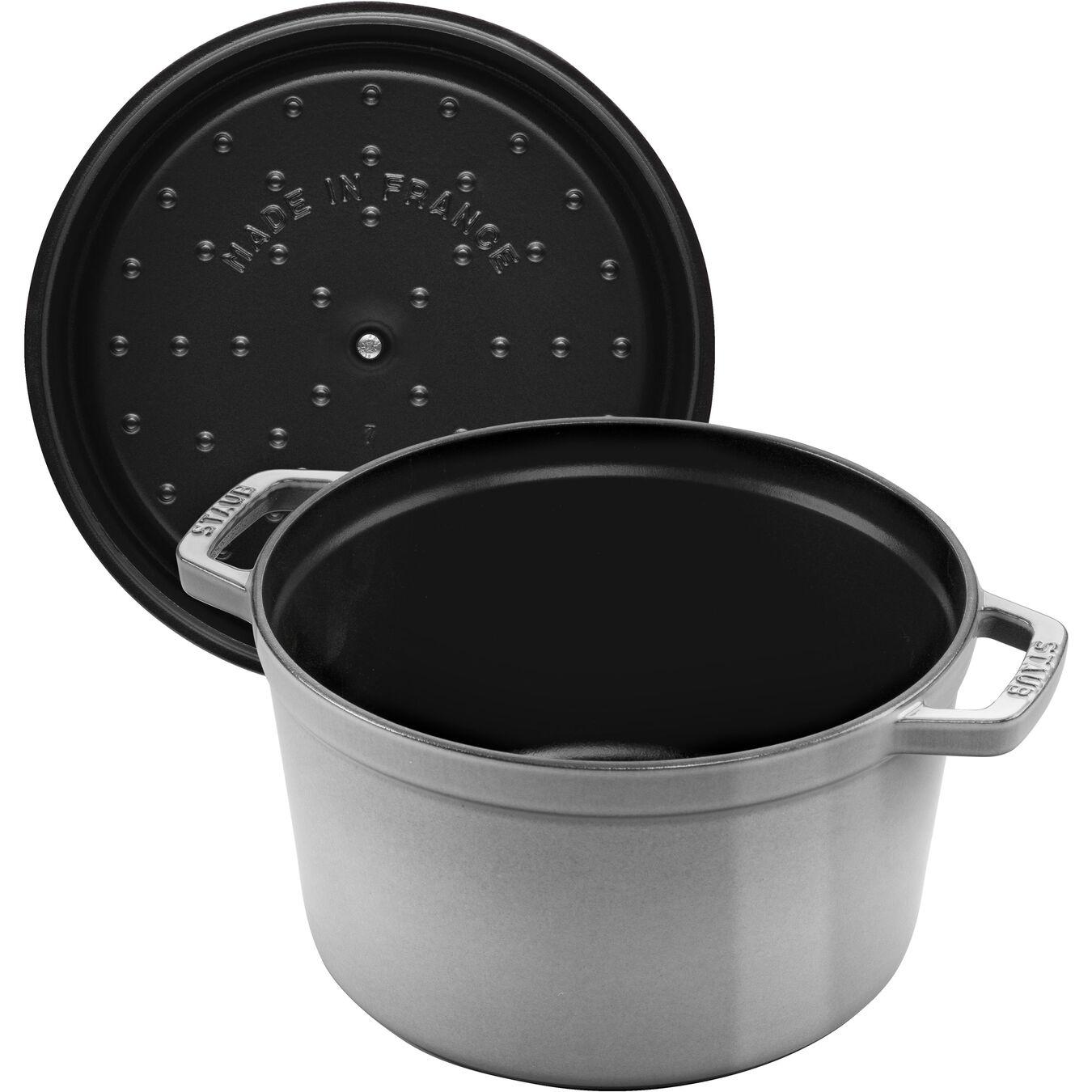 4,75 l Cast iron round Poêle à frire en fonte, Graphite-Grey,,large 3