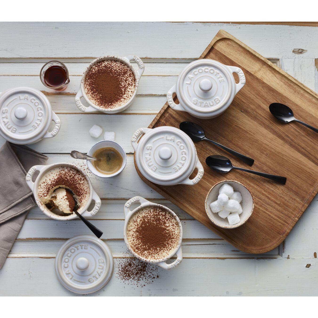 Ensemble de cocottes 4-pcs, Rond(e), Blanc ivoire, Céramique,,large 2