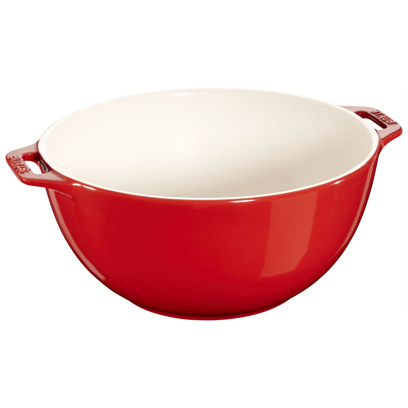 Bowl 25 cm, Cerâmica, Vermelho cereja,,large 1