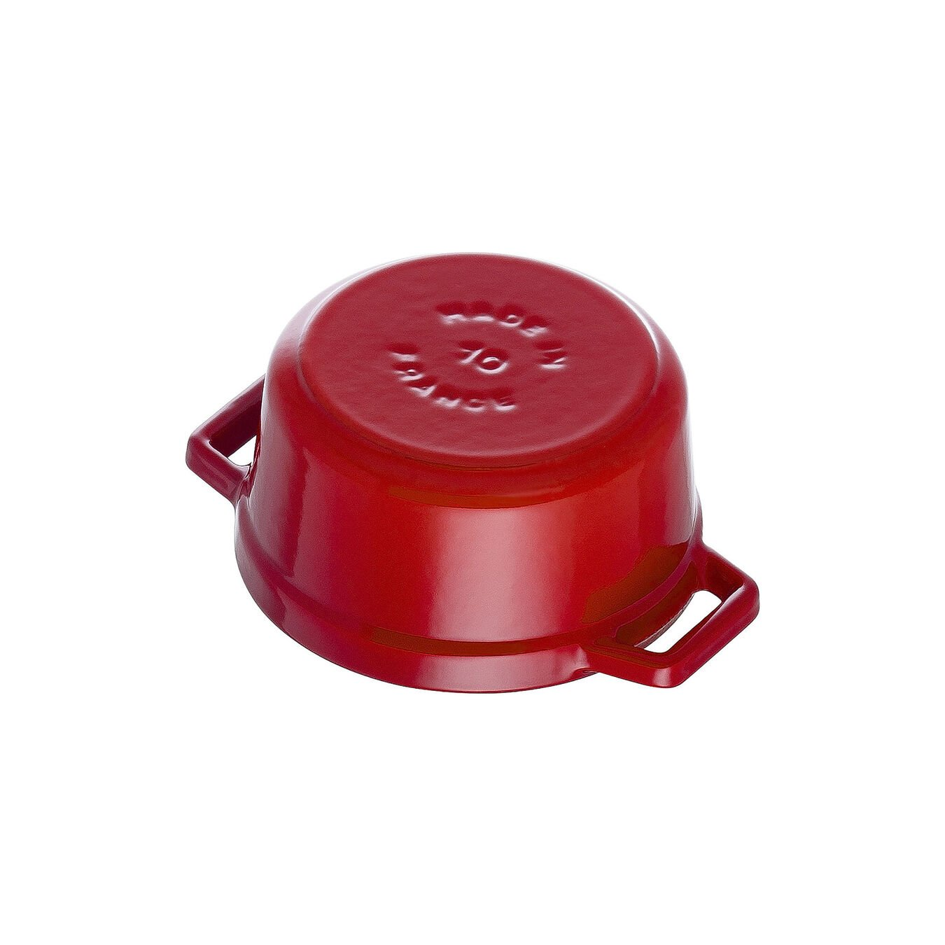 Mini Cocotte 10 cm, rund, Kirsch-Rot, Gusseisen,,large 4