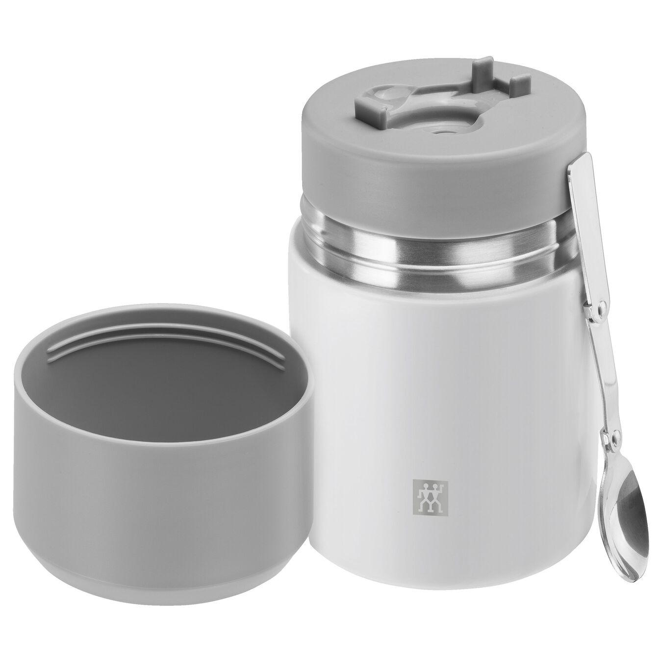 Recipiente alimentare - 700 ml, acciaio inox, bianco,,large 2