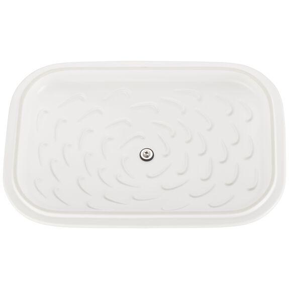 """12"""" x 8"""" Rectangular Covered Baking Dish, Matte White, , large 5"""
