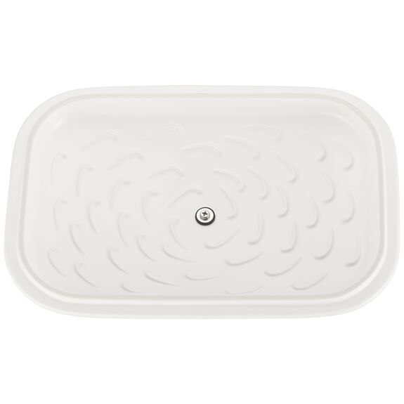 12-inch x 8-inch Rectangular Covered Baking Dish, Matte White, , large 5