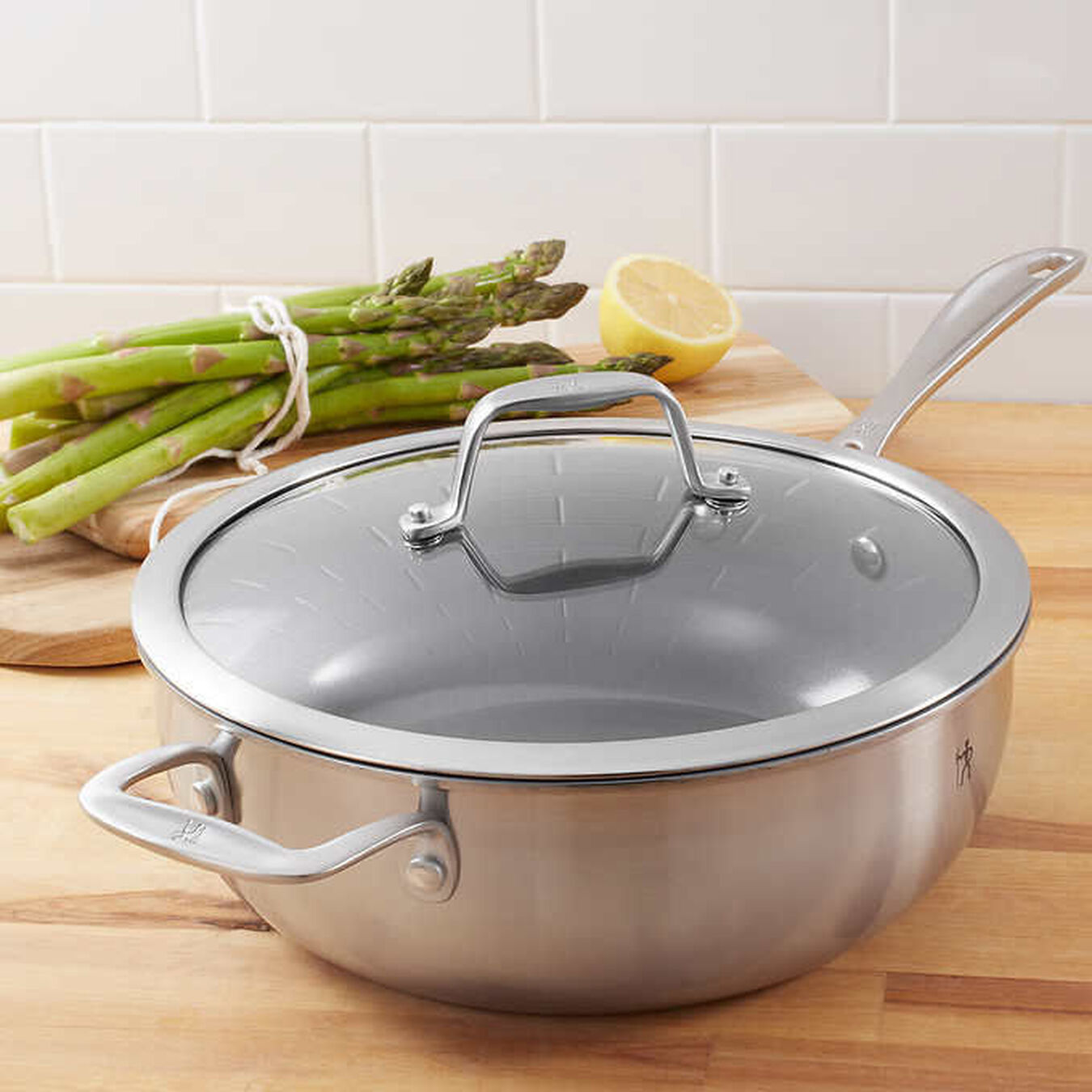 Non-Stick Perfect Pan with lid 4.3QT,,large 3