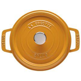 Staub Cast iron, 4-qt-/-24-cm round Cocotte, Mustard