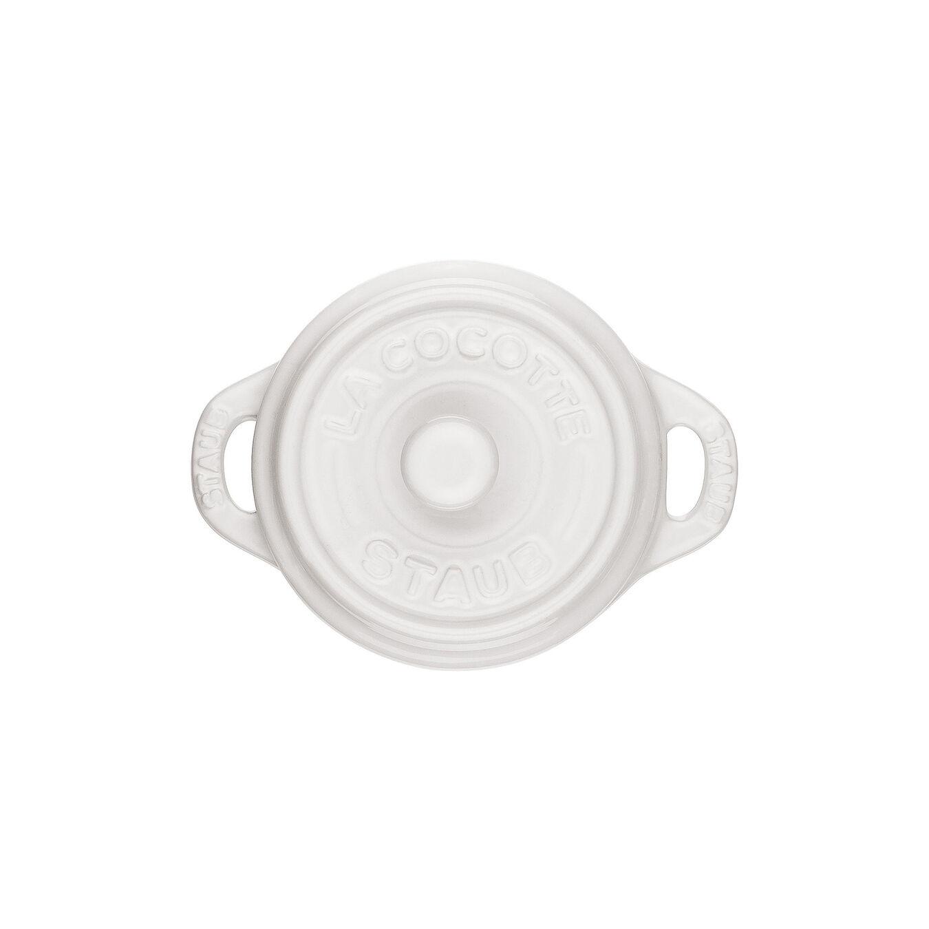 Mini Cocotte 10 cm, rund, Reinweiß, Keramik,,large 3