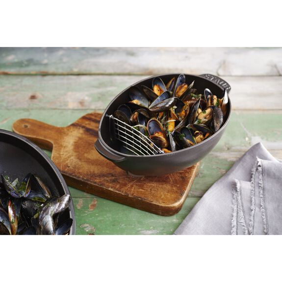 2-qt Mussel Pot - Matte Black,,large 4