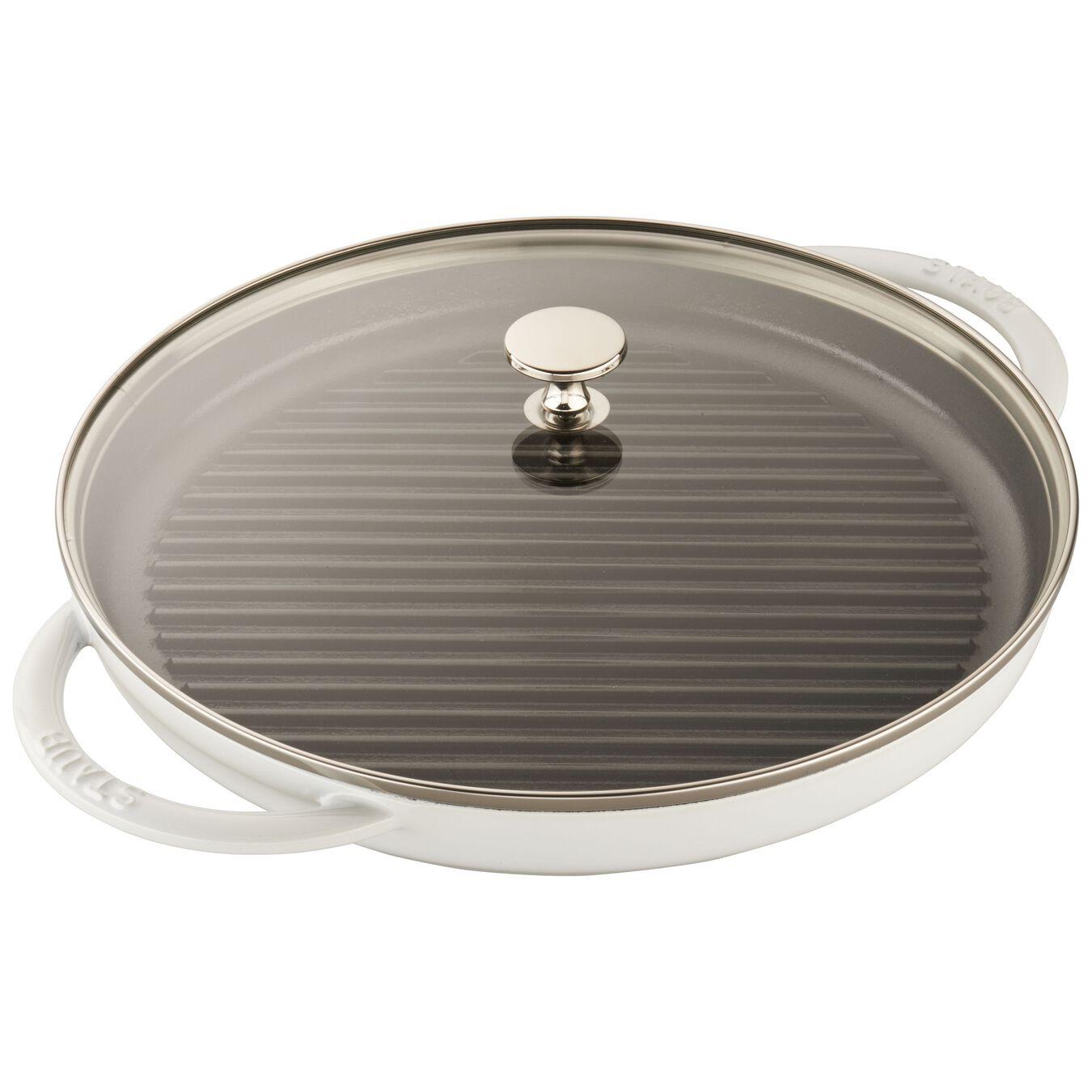 12-inch Round Steam Grill - White,,large 1