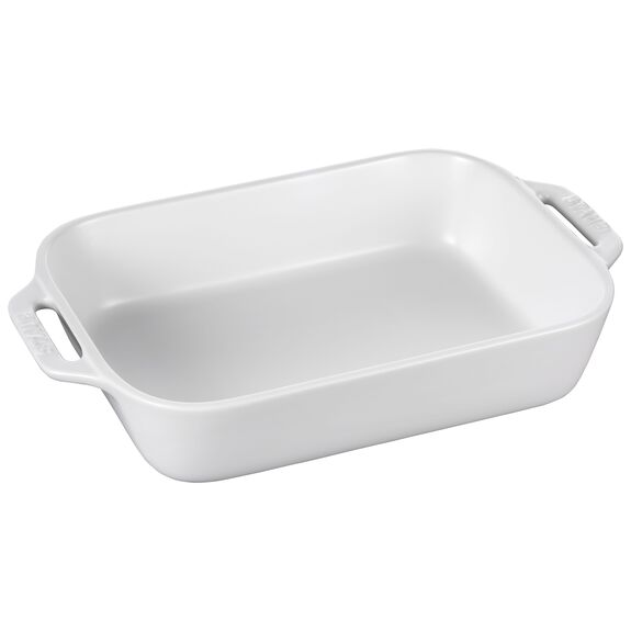 10.5-inch x 7.5-inch Rectangular Baking Dish - Matte White,,large 4