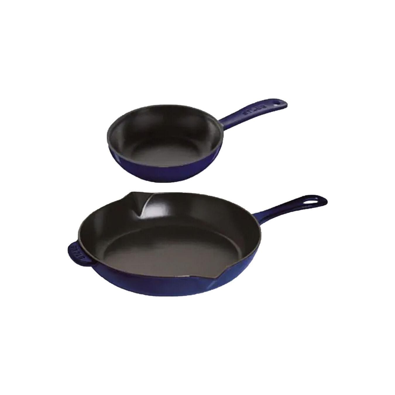 2 Piece Cast iron Frying pan set,,large 1