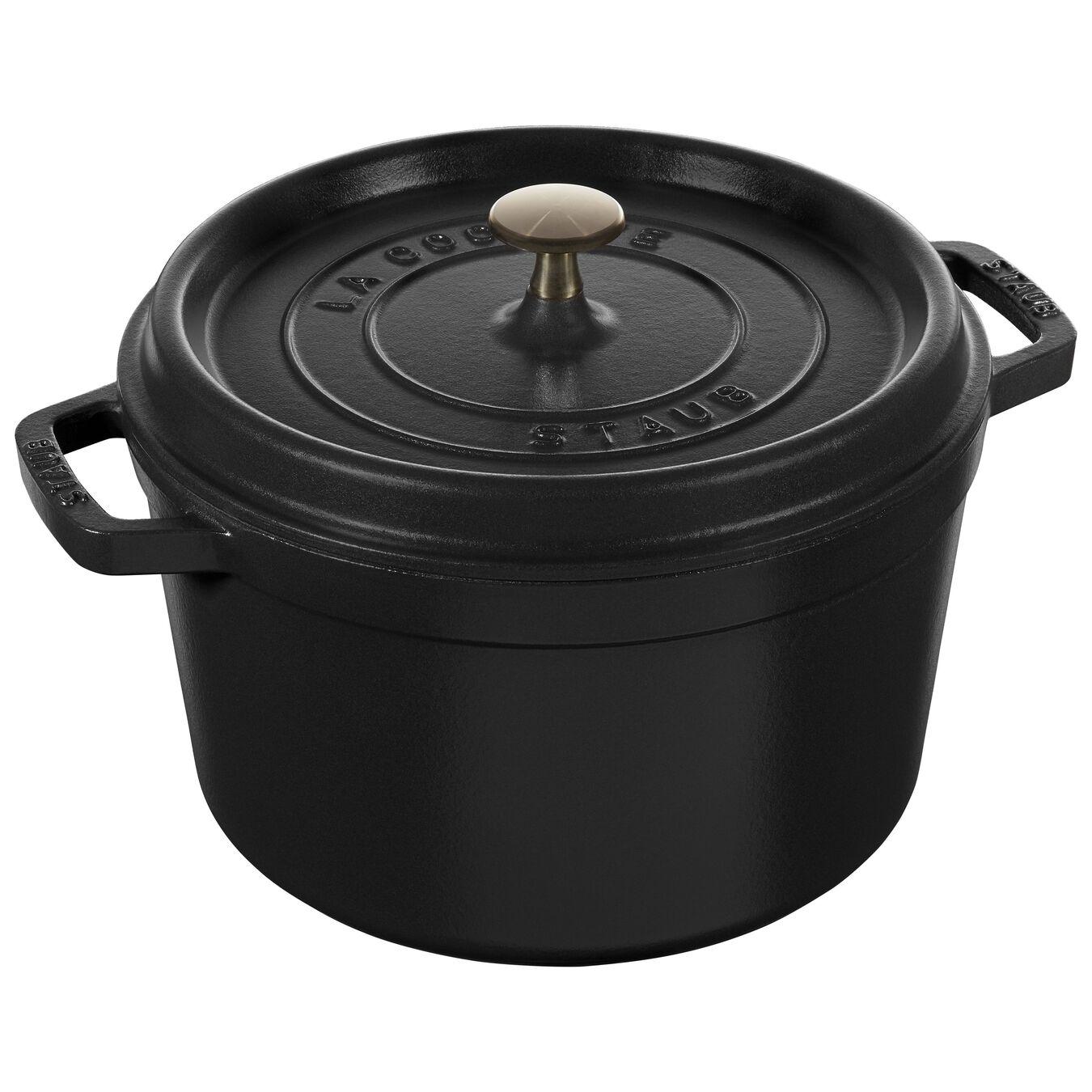 Cocotte 24 cm, Rond(e), Noir, Fonte,,large 1
