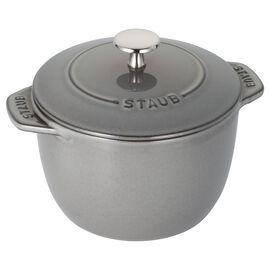 Staub La Cocotte, 1.5 l round Rice Cocotte, graphite-grey