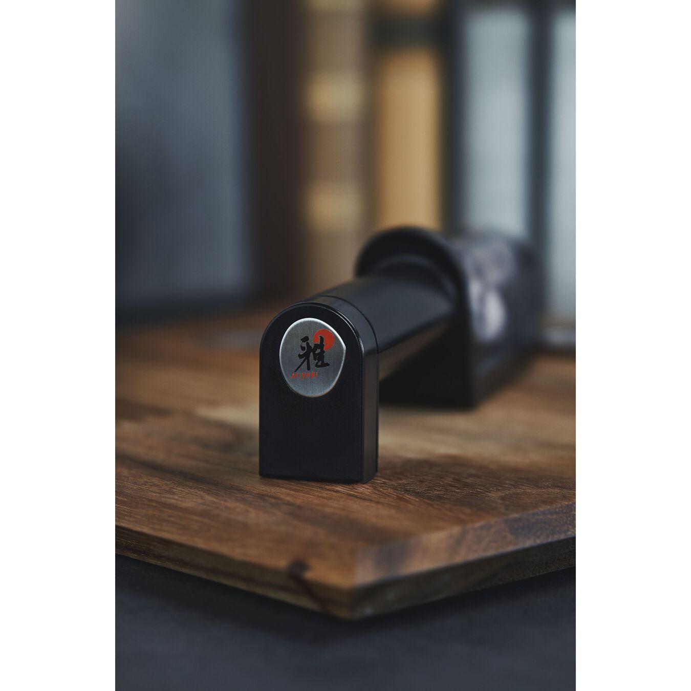 Knife sharpener ceramic discs, 21 cm | black | ceramic,,large 3