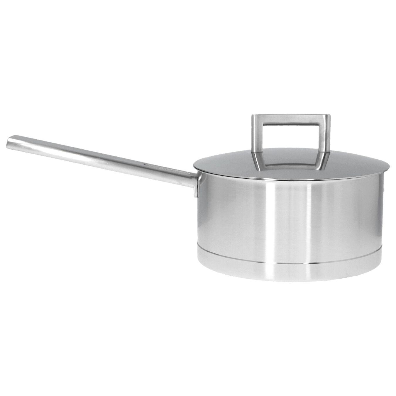 Sos Tenceresi Kapaklı   18/10 Paslanmaz Çelik   18 cm   Metalik Gri,,large 1
