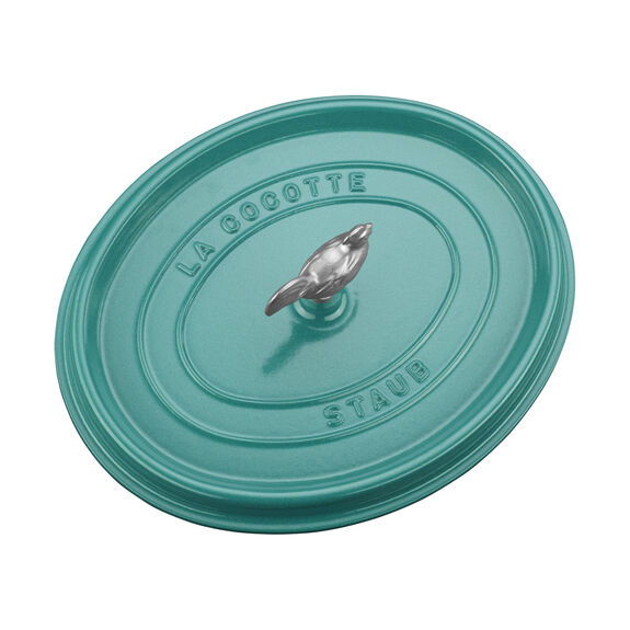 6-qt oval Cocotte, Turquoise,,large 4
