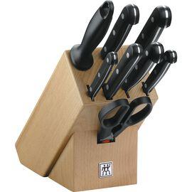 ZWILLING TWIN Gourmet, Bloc de couteaux 9-pcs, Hêtre