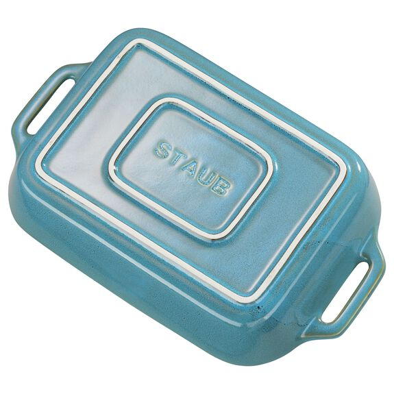 Ceramic Special shape bakeware, Rustic Turquoise,,large 3