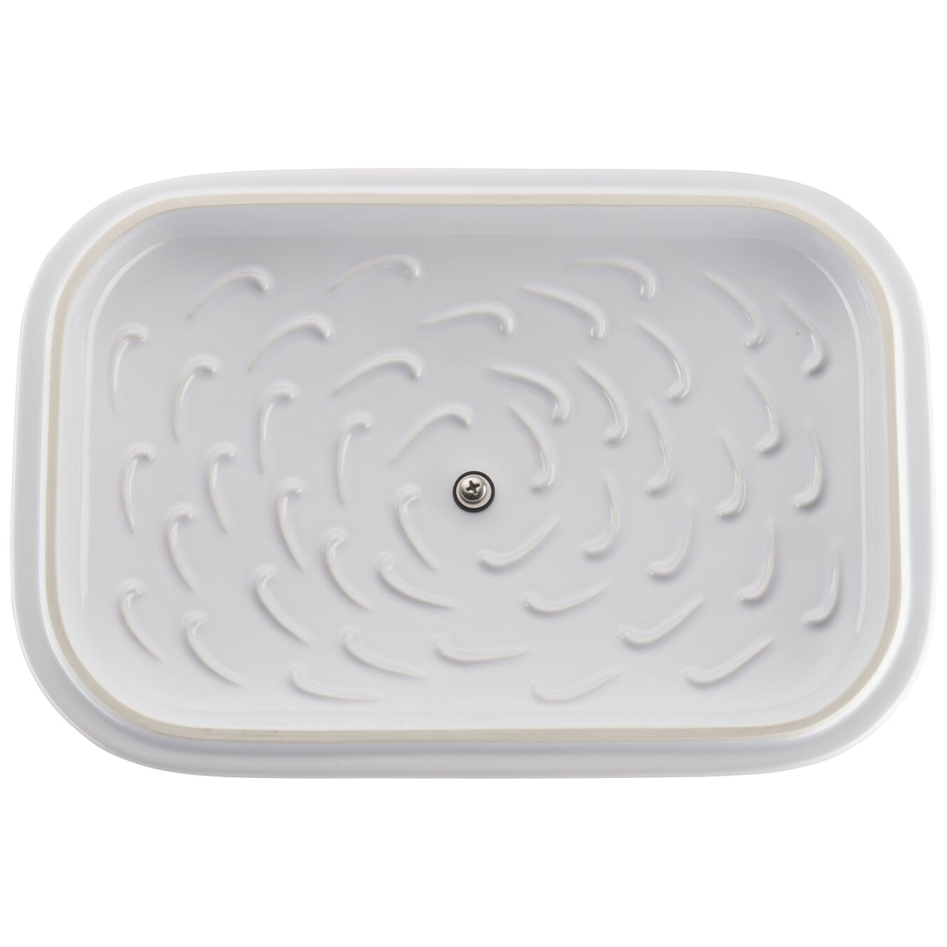 12-inch x 8-inch Rectangular Covered Baking Dish - White,,large 2