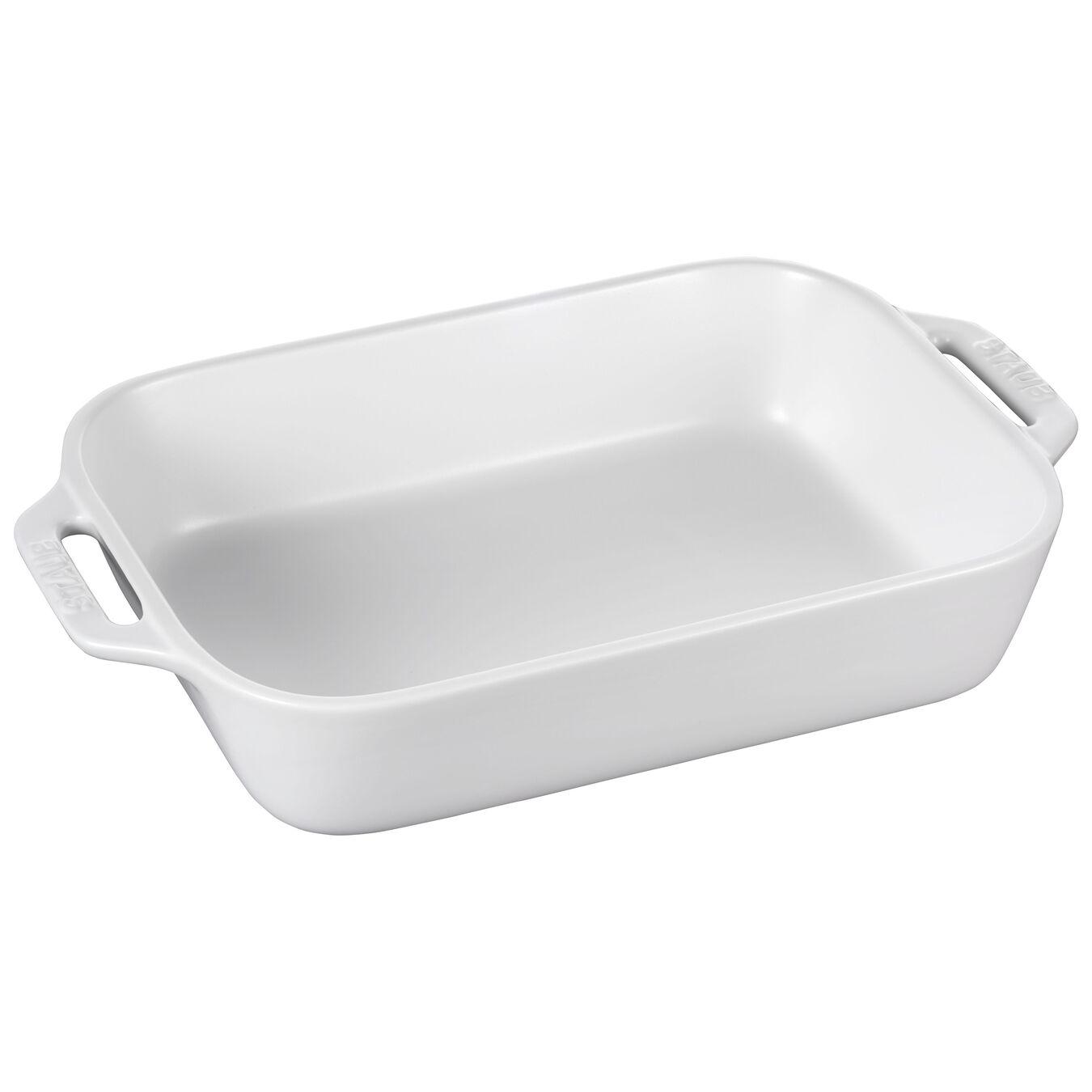 2 Piece rectangular Bakeware set, matte-white,,large 5